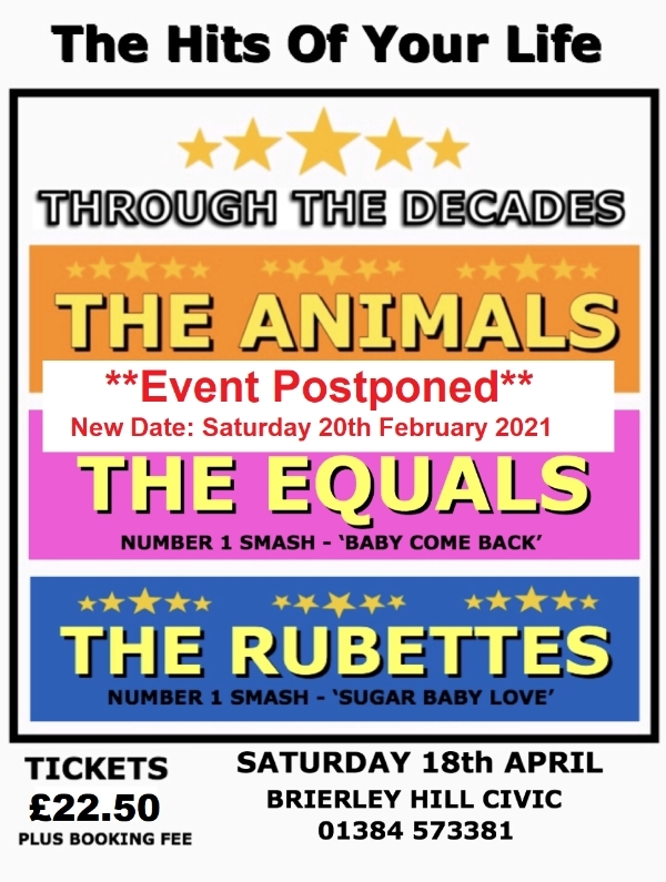 **Through The Decades - Postponed - New Date: 20th February 2021**