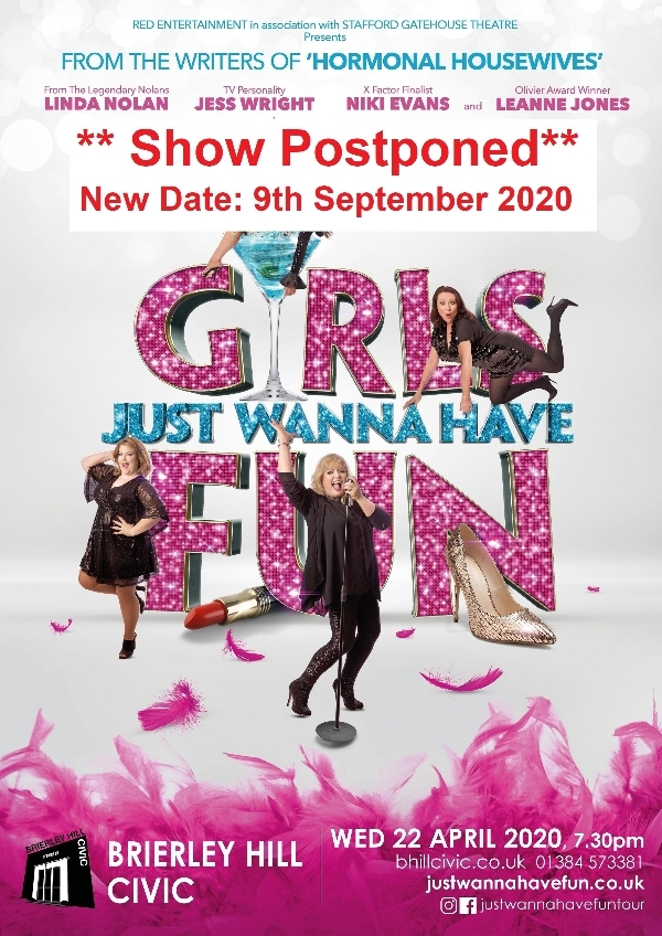 **Girls Just Wanna Have Fun- Postponed - New Date: 9th September 2020**