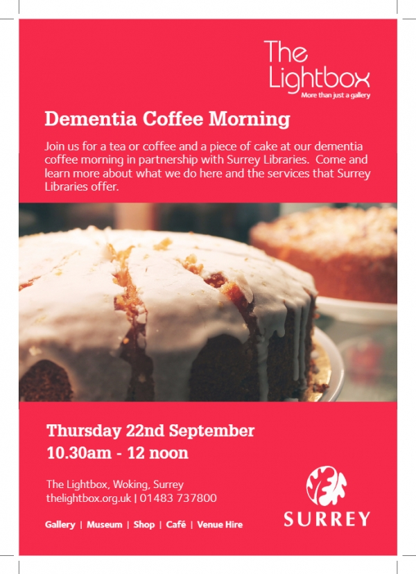 Dementia Coffee Morning at The Lightbox