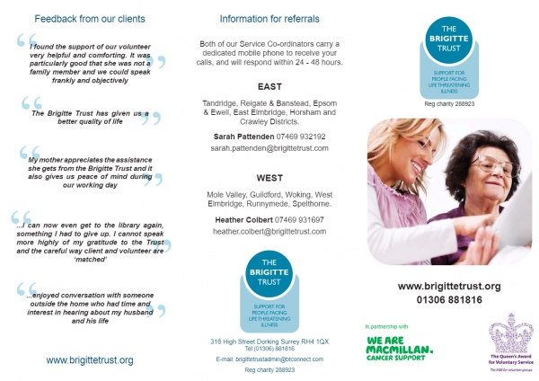 The Brigitte Trust - Volunteer Taster session