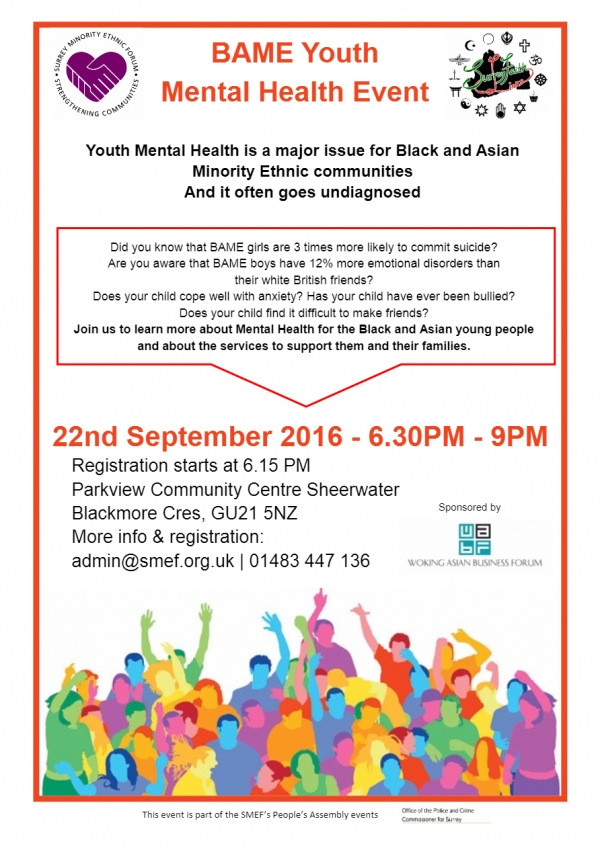Black and Asian Minority Ethnic Youth Mental Health Events