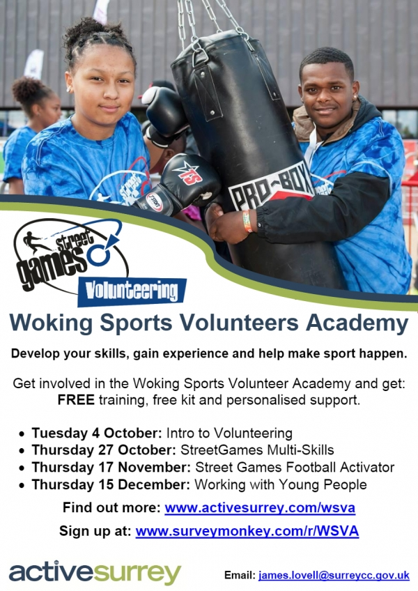 Woking Sports Volunteers Academy