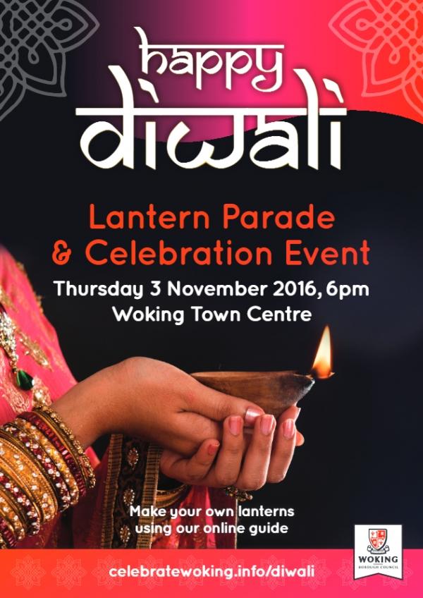 Lantern Parade & Celebration Event on Thursday 3rd November in Woking Town centre
