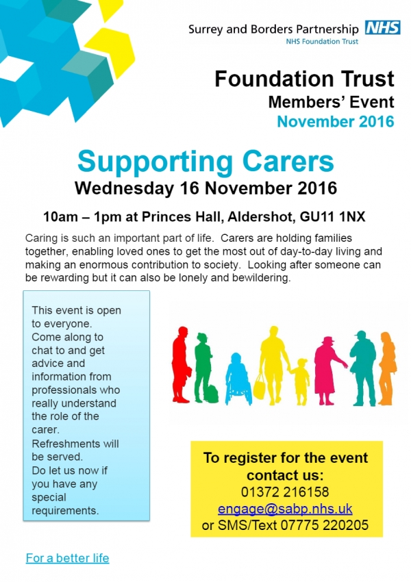 Supporting Carers - Wednesday 16 November 2016