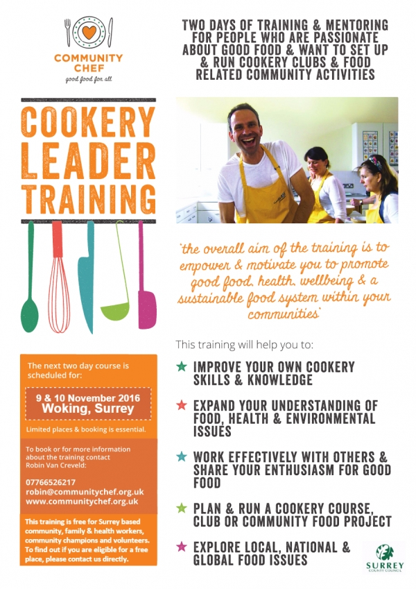 Community Chef - Cookery Leader Training