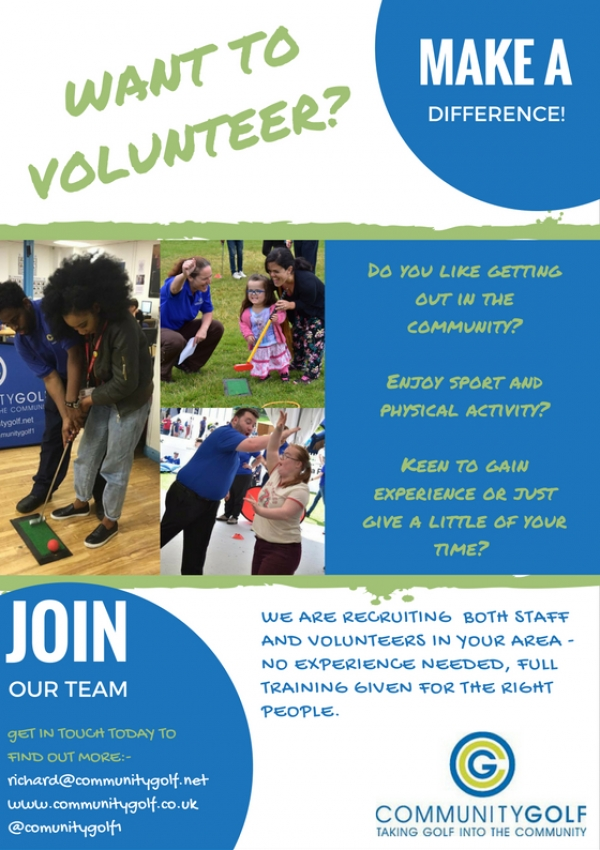Community Golf - Want to volunteer