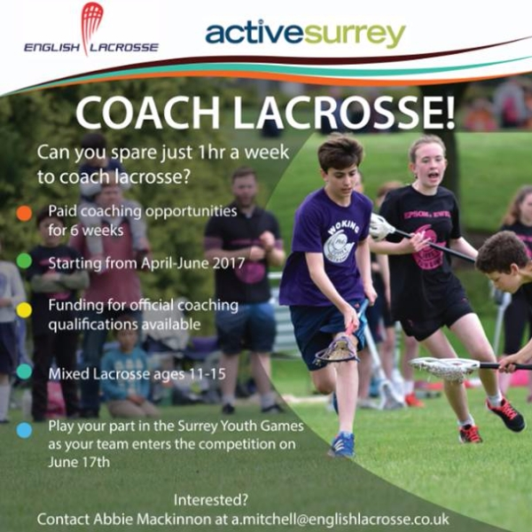 Active Surrey - Coach Lacrosses