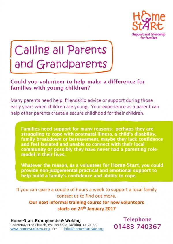 HomeStart - Urgently need volunteers