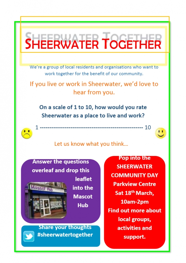 Sheerwater Together - If you live or work in Sheerwater we would love to hear from you.