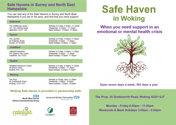 Safe Haven in Surrey and North East Hampshire