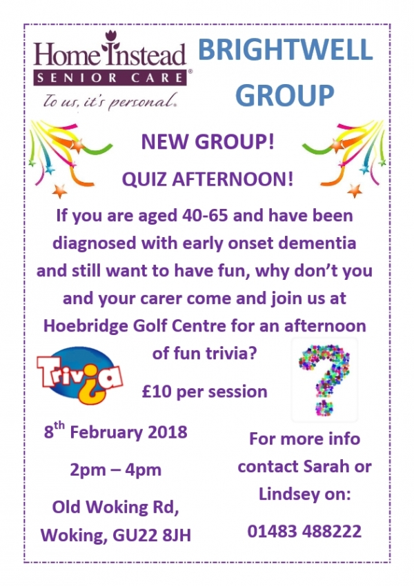 New Group Quiz afternoon