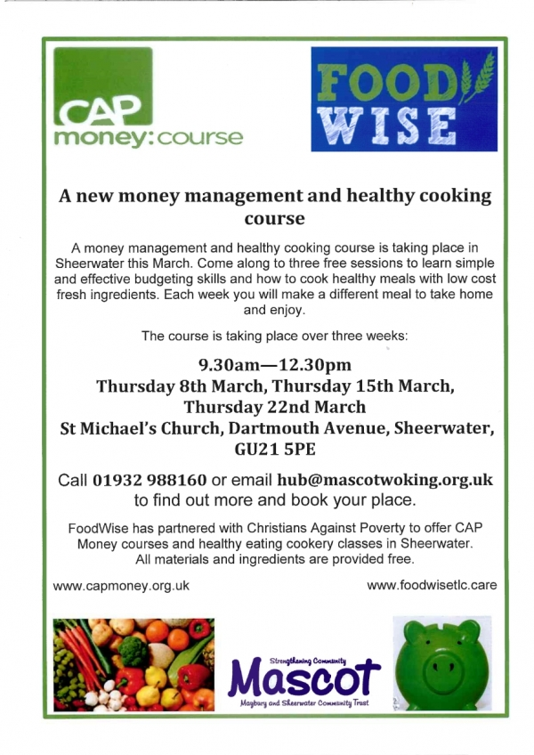 Money Management and Healthy Eating Food course