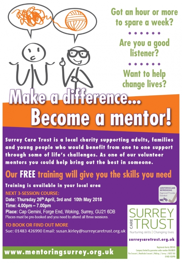 Make a difference. Become a mentor