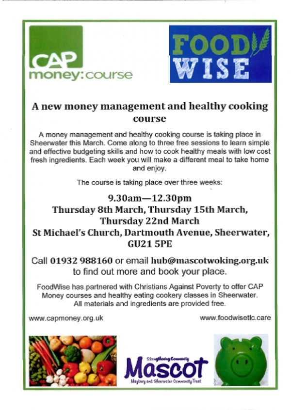 A new money management and healthy eating course.