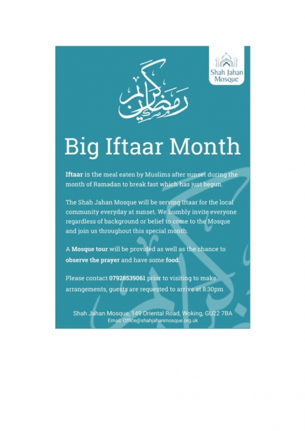 Big Aftaar Month - Shah Jahan Mosque