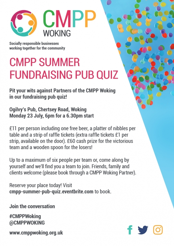 Summer Pub Quiz - CMPP Woking