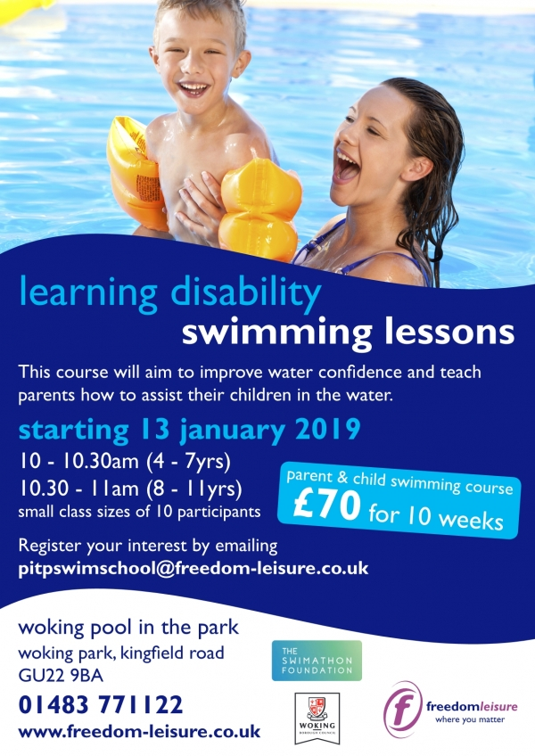 Learning Disability Swimming course for children aged 4-11 years