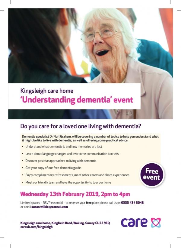 Understanding Dementia Event