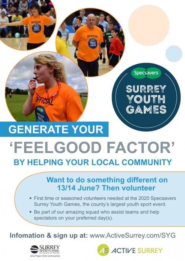 Volunteer for Surrey Youth Games