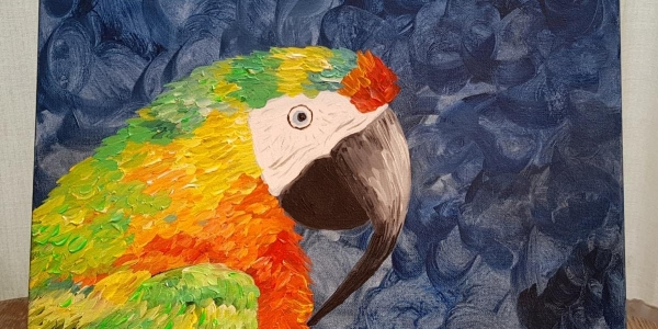 Paint by Wine - Hybrid Macaw