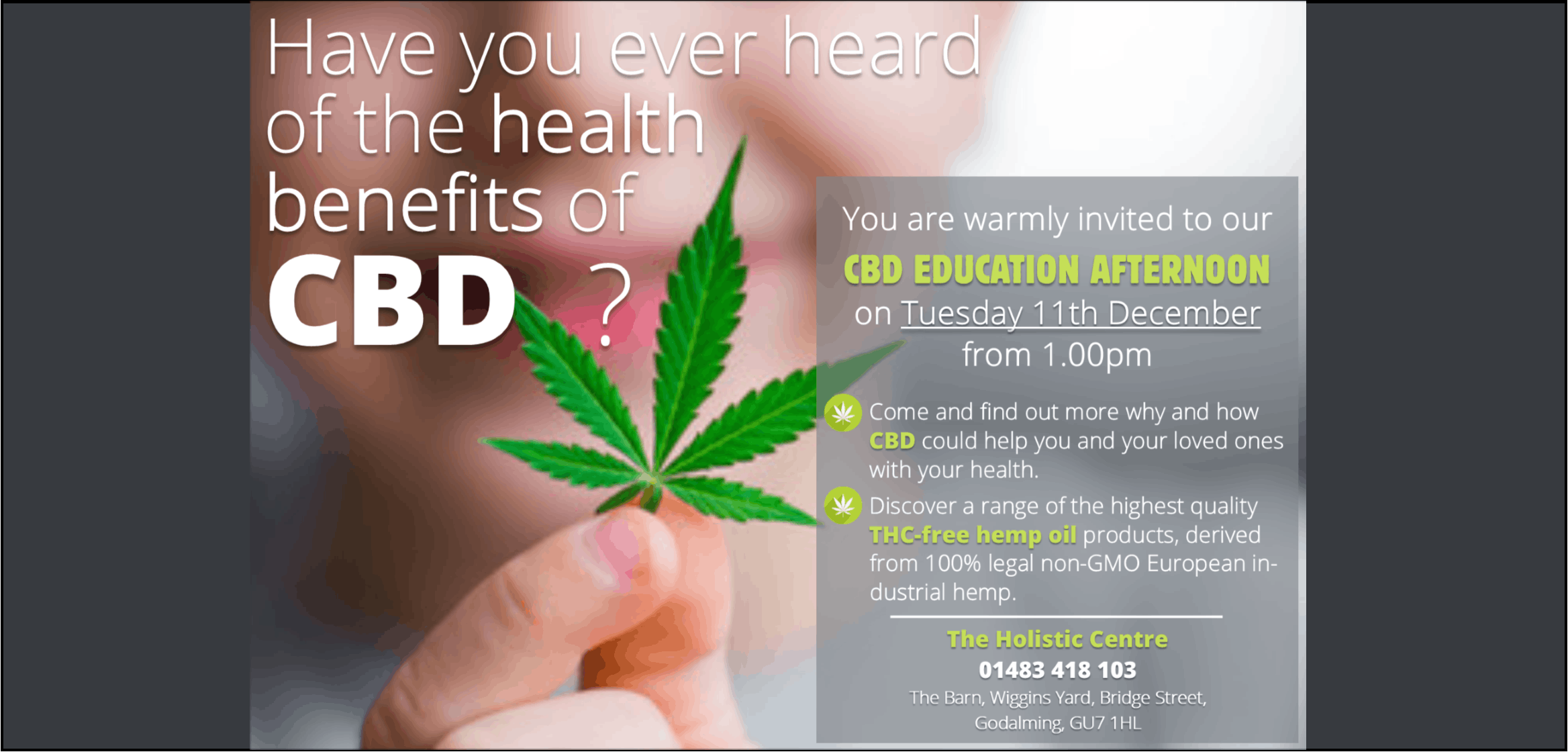 CBD Education Afternoon | Guildford Info
