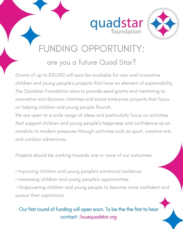 Quadstar Funding for Youth projects