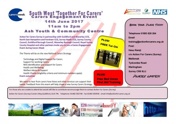 South West Surrey Carers Engagement event