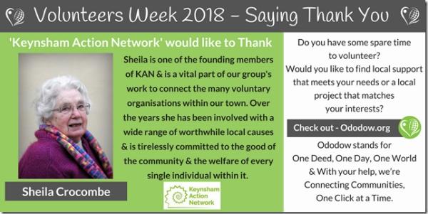 Thanking one of our true pillars of the Keynsham community
