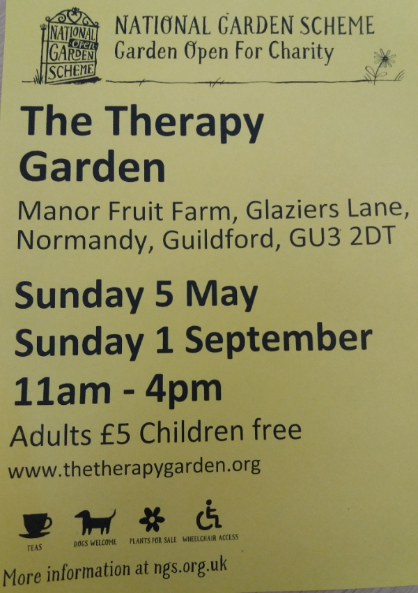 National Garden Scheme Open Day at The Therapy Garden