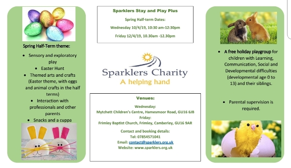 Sparklers Easter Holidays Playgroups