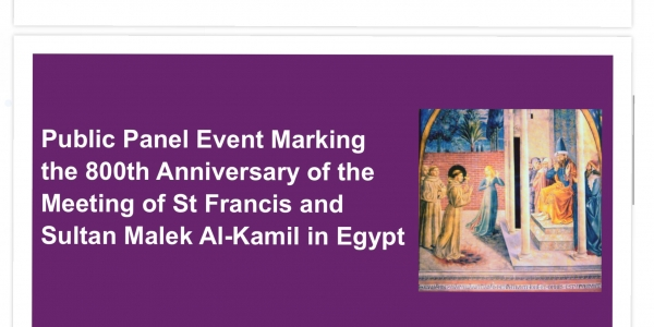 ULS: Public Panel Event on St Francis and Sultan Malek Al-Kamil