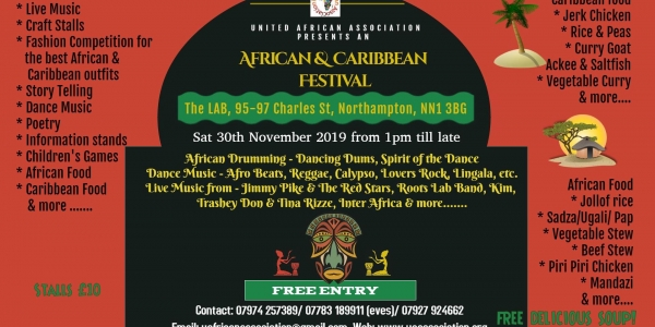 African and Caribbean Festival: Stallholders booking form