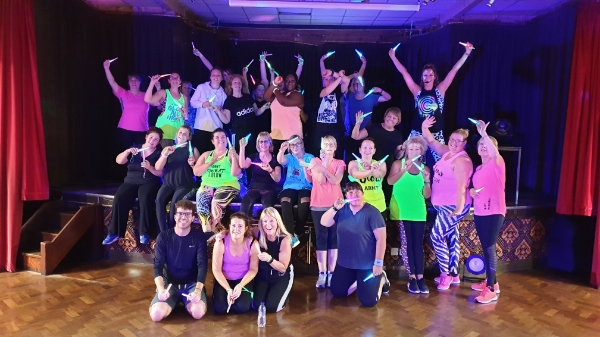 Dancing in the dark with Clubbercise Northampton with Marie