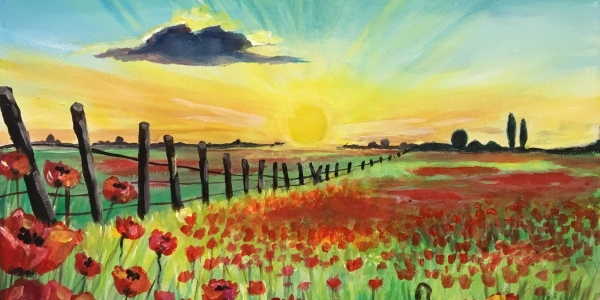 Paint & Sip Party - 'To Remember' at The Windmill, Orton Waterville