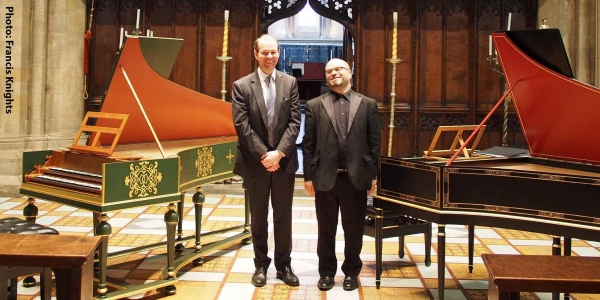 New music for two harpsichords
