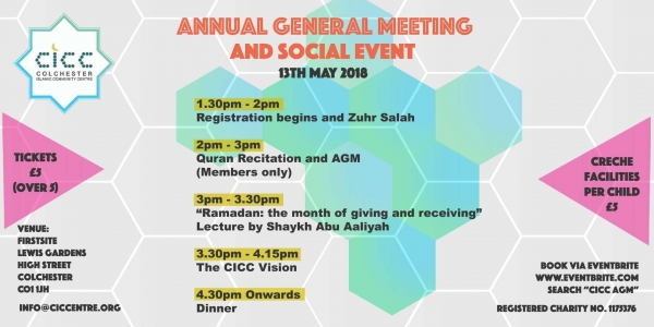 CICC, Colchester Islamic Community Centre, Annual General Meeting