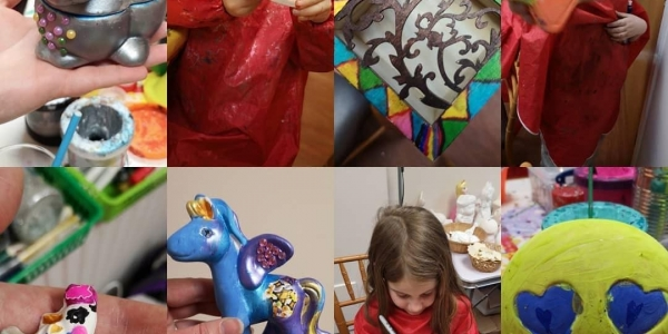 Pottery painting sessions at Chantry library