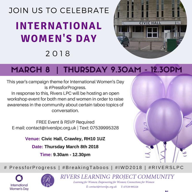 International Women's Day 2018 RIVERS LPC Event: Breaking Taboos
