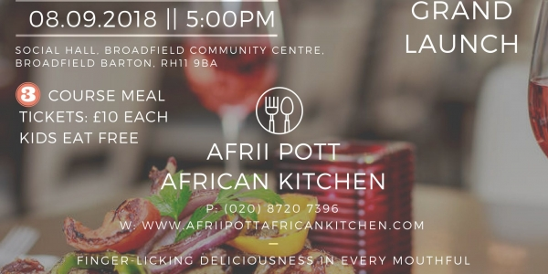 The Grand Launch of Afrii Pott African Kitchen