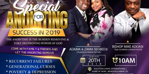 SPECIAL ANOINTING FOR SUCCESS IN 2019