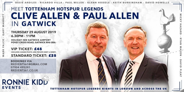 An Evening Spurs Legends Clive and Paul Allen