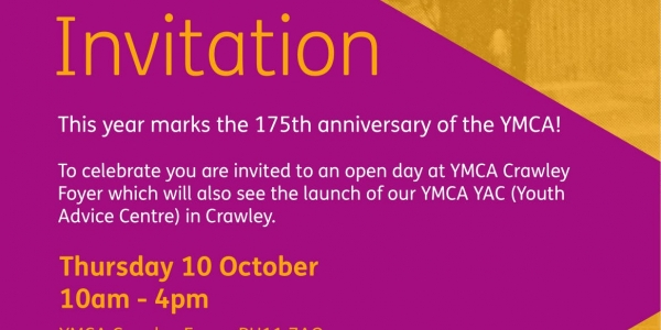 YMCA 175 & Crawley YAC (Youth Advice Centre) Launch day