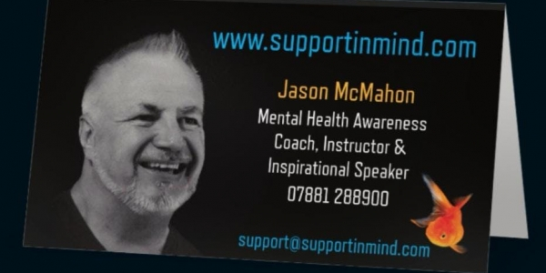 Mental Health Awareness 4hr session with Jason McMahon, Mental Health Coach