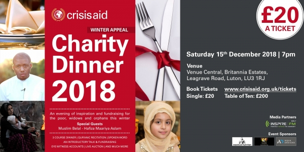 Luton Winter Appeal Charity Dinner 2018