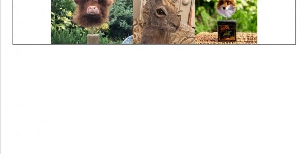 NEEDLE FELTED ANIMAL HEADS