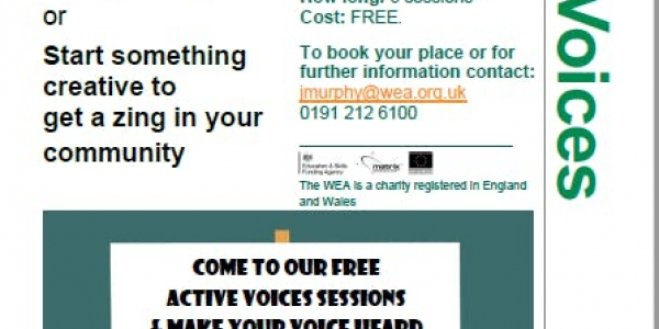 ACTIVE VOICES: 6 sessions,15 Jan-26 Feb. Put some zing in your community!