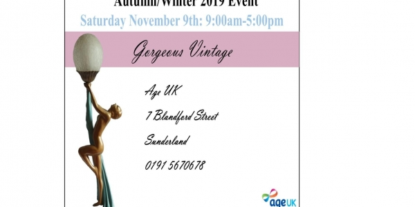 Age Uk Gorgeous Vintage Autumn Event Saturday 9th November 2019