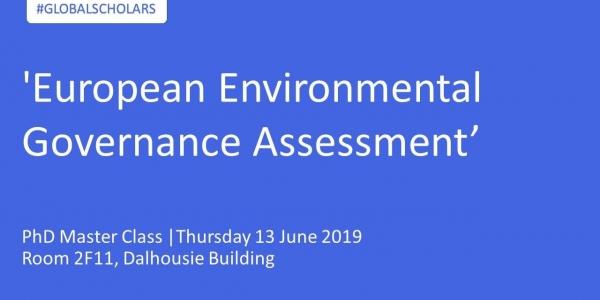 PhD Master Class   'European Environmental Governance Assessment'