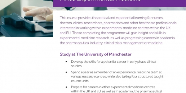 An Introduction to Experimental Medicine: Study Design: Observational Studies, with a focus on EM