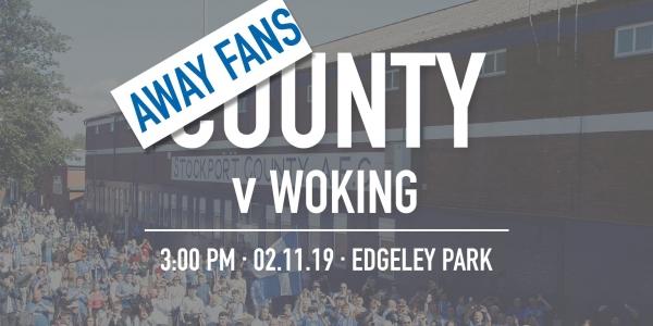 Away Fans - #StockportCounty vs Woking F.C.